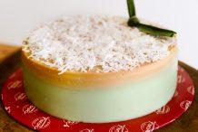 Pandan Gula Melaka Agar Layer Cake