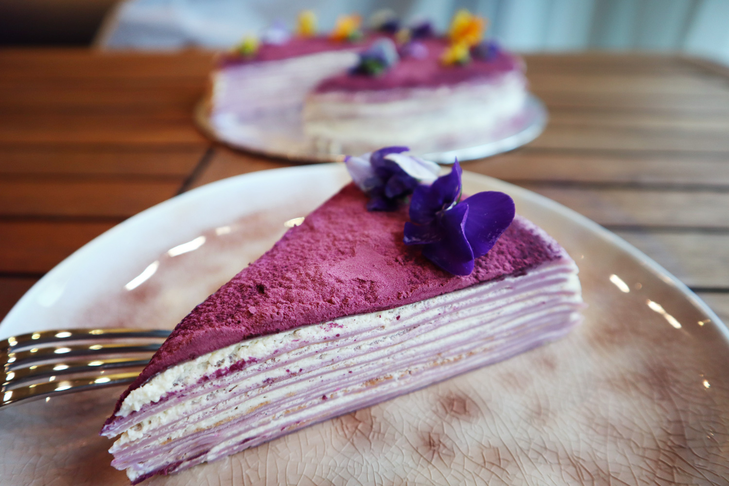 Yam Crepe Cake Asian Inspirations