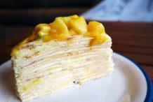 Passionfruit & Mango Crepe Cake