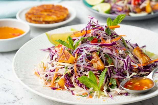 Vietnamese Slaw with Grilled Pineapple