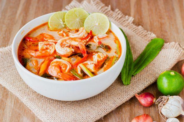 Seafood Tom Yum Soup (Tom Yum Thale)