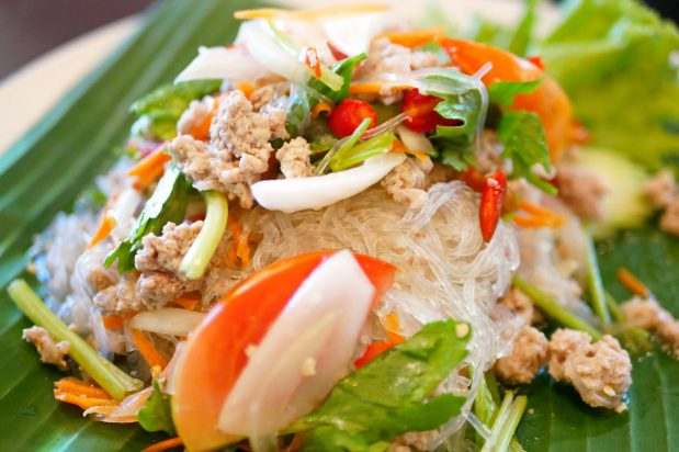 Thai Glass Noodle Salad (Yum Woon Sen)