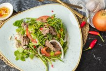 Vietnamese Beef and Watercress Salad (Bo Xao Sa Lat Song)
