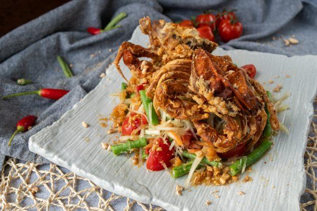 Soft Shell Crab Som Tum