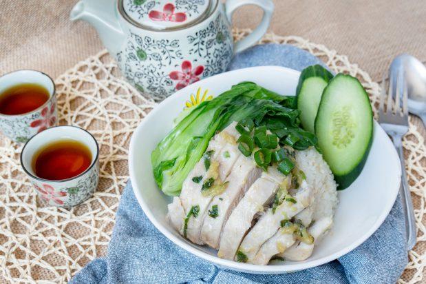 Quick Hainanese Chicken Rice
