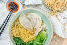Vegetarian Dumpling Noodle Soup