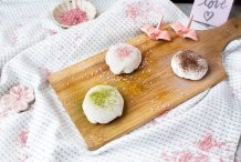 Valentine's Day Chocolate Mochi Trio