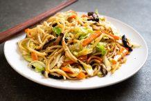 Stir-Fried Pork with Soba Noodles (Yakisoba)