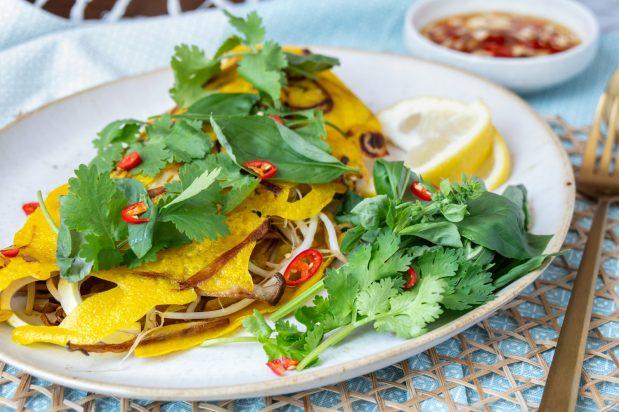 Vegan Vietnamese Crepes (Banh Xeo)