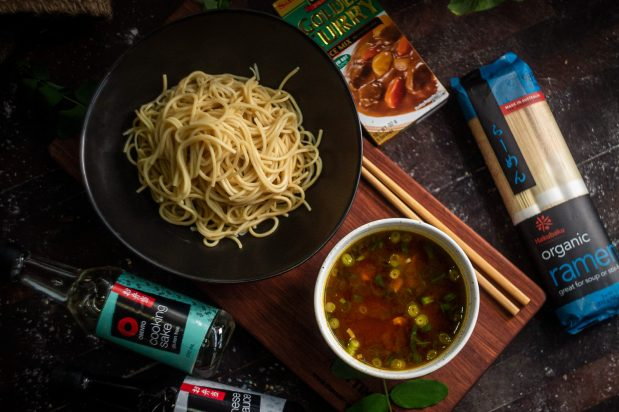 Dipping Ramen with Curry Broth (Curry Tsukemen)