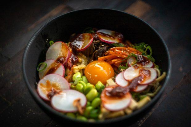 Korean Vegetarian Rice Bowl (Bibimbap)