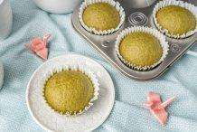 Japanese Matcha Steamed Cake (Matcha Mushi Pan)