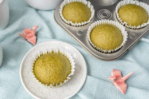 Japanese Matcha Steamed Cake (Matcha Mushi Pan)