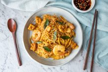 Dry Laksa Stir Fried Noodles