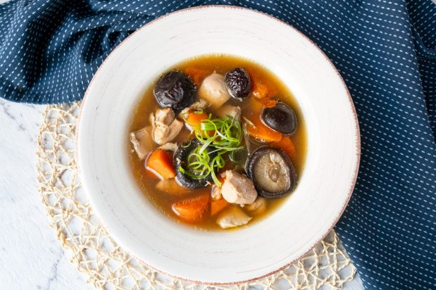 Chinese Chicken and Mushroom Soup