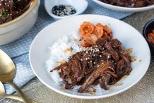 Slow Cooker Korean Pulled Beef