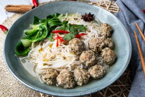 Spicy Vietnamese Meatball Soup
