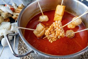 Quick Shortcut Satay Hot Pot (Cheat's Satay Celup)