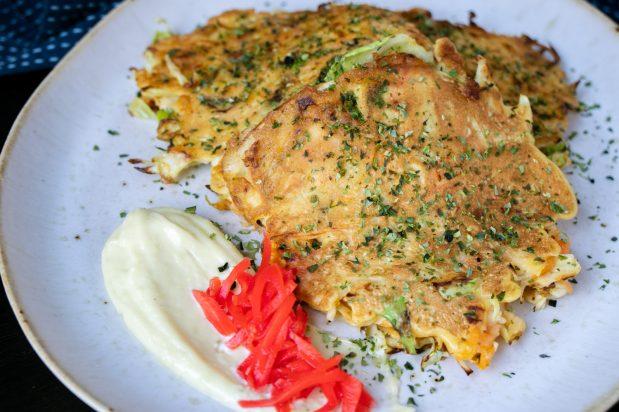 Vegetarian Japanese Pancakes (Vegetarian Okonomiyaki)