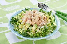 Tuna and Avocado Salad with Wasabi Mayonnaise