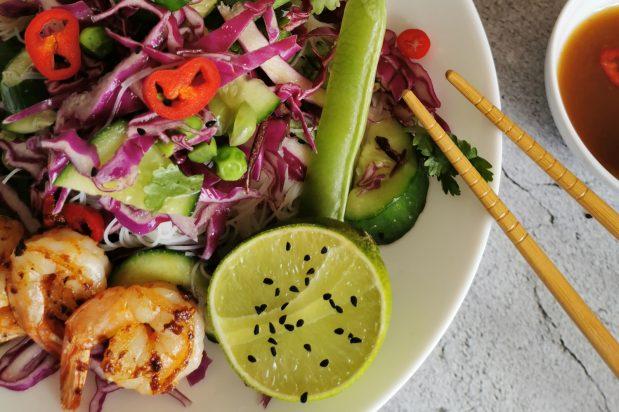 Nuoc Cham Crunchy Prawn Salad