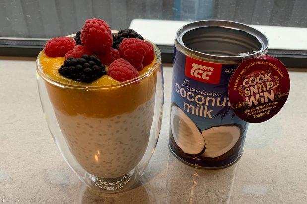 Coconut & Mango Tapioca Breakfast Pot