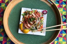 Vermicelli Noodle Salad with Cantonese Chicken