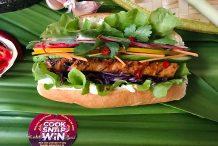 Rainbow Banh Mi with Chilli Soy Glazed Tofu