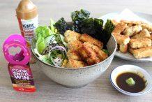 Panko Crumbed Tofu Salad