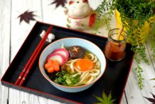 Moon Viewing Udon Soup (Tsukimi Udon)