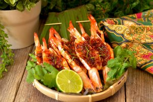 Grilled Tom Yum Prawns