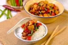 Stir Fried Cubed Vegetables, Meat and Nuts (Lup Lup Delight)