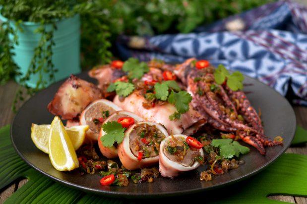 Stuffed Squid with Pork Mince