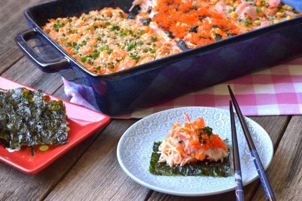 Sushi Tray Bake
