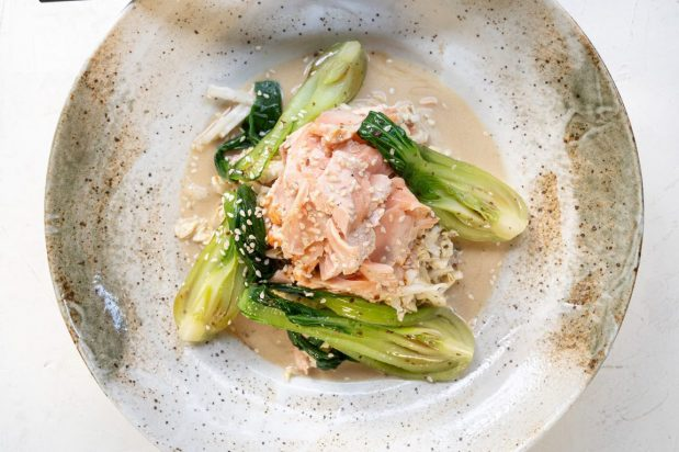 Seared Salmon and Asian Greens Salad
