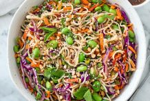 Cold Sesame Noodles with Edamame and Vegetables