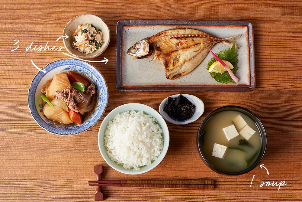 dinh dưỡng Washoku - 1 canh 3 món