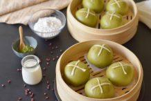 Matcha Soft Steamed Bao