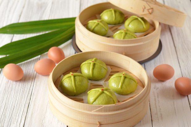 Pandan Soft Steamed Bao