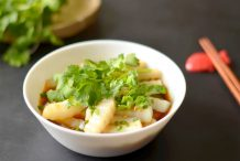 Chinese Mung Bean Jelly Noodles (Liang Fen)
