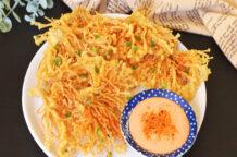 Crispy Enoki Mushrooms with Spicy Mayo Dip