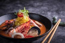 Thai Seafood Tom Yum Noodle Soup