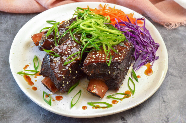 Sticky Beef Ribs in Master Stock