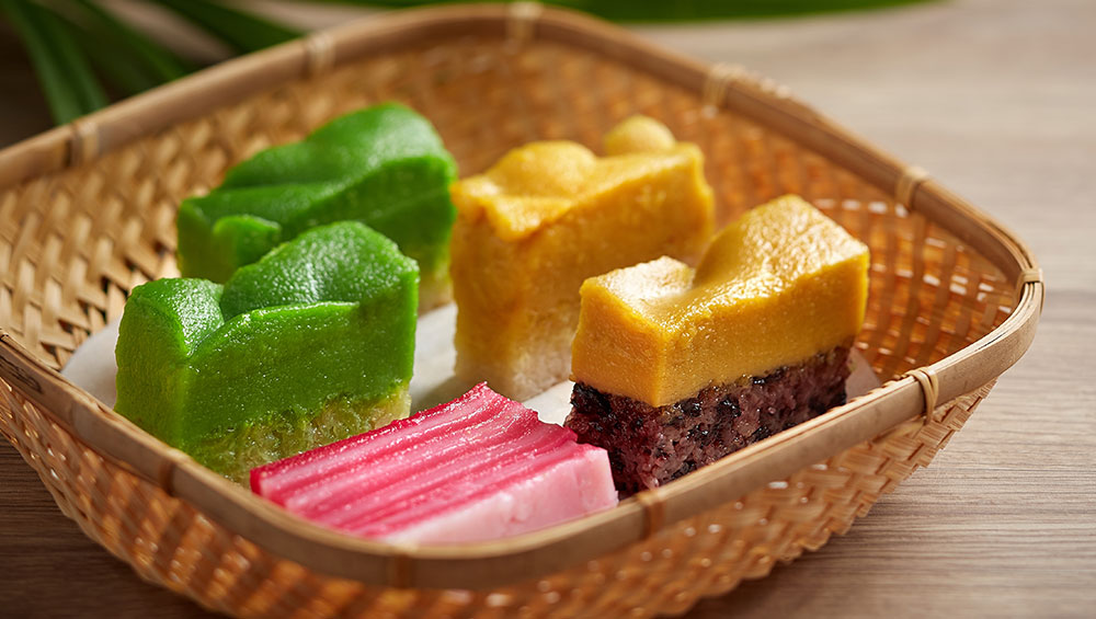 Asian Pastries Made of Rice
