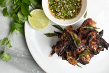 Thai Green Curry Air Fryer Chicken Wings