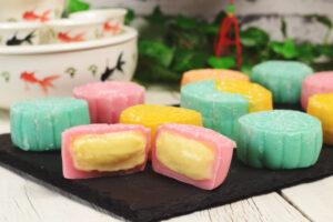 Creamy Custard Mochi Mooncakes