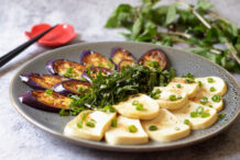 Eggplant and Tofu with Sesame Ponzu Sauce